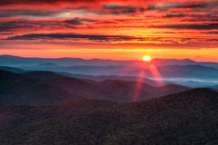 North Carolina Blue Ridge Mountain Autumn Sunrise Royalty Free Stock Image