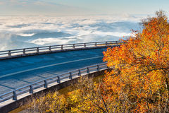 North Carolina Blue Ridge Parkway Linn Cove Viaduct Royalty Free Stock Photo