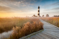 North Carolina Bodie Island Lighthouse Cape Hatter Royalty Free Stock Images