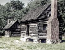 1800 North Carolina Cabins stock photography
