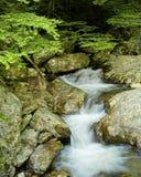 North Carolina Cascade. An image of a small cascade shot near the Blue Ridge Parkway, Asheville, NC Royalty Free Stock Photography