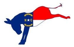 North Carolina Democrat Donkey Flag Royalty Free Stock Images