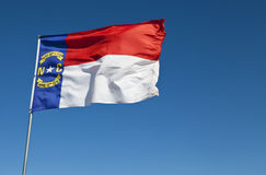 North Carolina Flag. The North Carolina flag blowing in the wind royalty free stock photography
