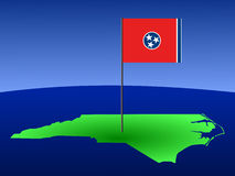 North Carolina with flag Royalty Free Stock Photo
