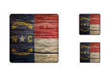 North Carolina flaggaknappar Royaltyfri Fotografi