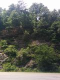 North Carolina Hillside cliff rocks foliage scenic Stock Photography