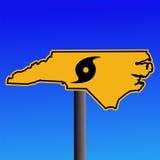 North Carolina hurricane sign Royalty Free Stock Image