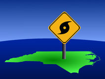 North Carolina hurricane sign Stock Image