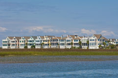 North Carolina ICW Beach houses Royalty Free Stock Photos