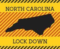 Free North Carolina Lock Down Sign. Royalty Free Stock Photos - 183391268