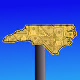 North Carolina map sign Stock Photos