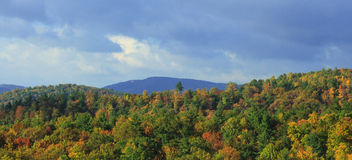 North Carolina Mountains and Fall Colors Royalty Free Stock Images