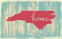 North Carolina nostalgic rustic vintage state vector sign Royalty Free Stock Photography