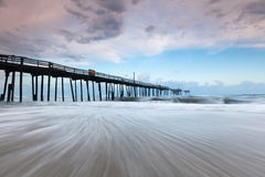 North Carolina Outer Banks Derelict Fishing Pier Stock Photos