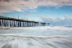 North Carolina Outer Banks Fishing Pier Royalty Free Stock Photos