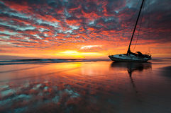 North Carolina Outer Banks OBX Shipwreck Sunrise S Stock Images