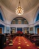 North Carolina Senate chamber. Historic Senate chamber of the North Carolina State Capitol in Raleigh, North Carolina stock photos