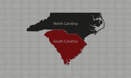 North Carolina & South Carolina ilustração stock