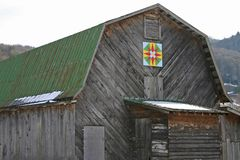 North Carolina Star Quilt Barn Royalty Free Stock Photography