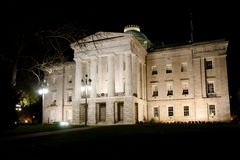 North Carolina State Capitol at night Stock Images