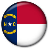 North Carolina State Flag Button. Glassy Web Button with the flag of the state of North Carolina, USA Royalty Free Stock Images