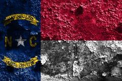 North Carolina state grunge flag, United States of America.  royalty free stock images