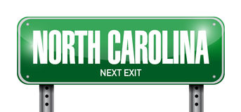 North carolina street sign illustration Royalty Free Stock Photo