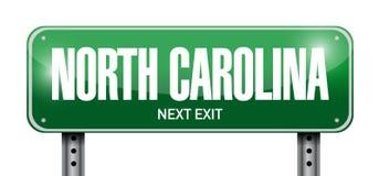 North carolina street sign illustration. Design over a white background Royalty Free Stock Photo