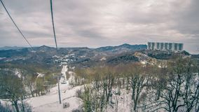 North carolina sugar mountain skiing resort destination. North carolina sugar mountain skiing resort  destination Stock Photography