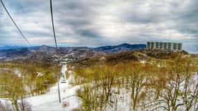 North carolina sugar mountain skiing resort destination. North carolina sugar mountain skiing resort  destination Stock Images