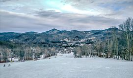 North carolina sugar mountain skiing resort destination stock image