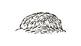 North Carolinas Pilot Mountain State hand drawn illustration on white background vector illustration