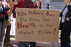 North Carolinians Fed Up With Politicians Selling Them Out Sign Royalty Free Stock Photos
