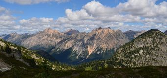 North Cascade Mountainscape royalty free stock photo