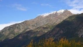 North Cascades Clouds Roll Over Peak Washington Mountain Range stock footage
