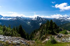 North Cascades epic hiking routes Royalty Free Stock Image
