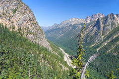 North Cascades. Highway in  National Park Stock Images