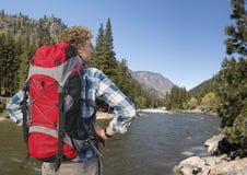 North Cascades Hiker Stock Image