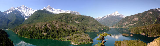 North Cascades Panorama Royalty Free Stock Images
