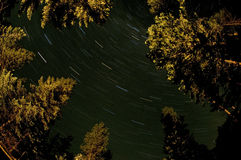 North Cascades Star trail stock photo