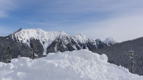 North Cascades in Winter. Mt Baker Ski area is a popular place for winter activities in North Cascades Stock Photography