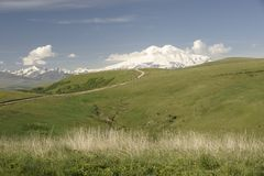 The North Caucasus. Foothills of Elbrus. Summer 2009 Stock Photo