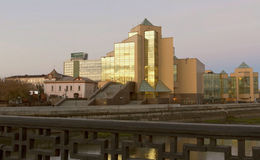 The geological Museum on the waterfront of the city of Chelyabinsk Stock Images