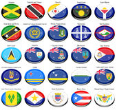 North and Central America's flags Royalty Free Stock Photography
