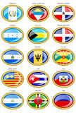 North and Central America's flags Stock Image