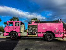 North Charleston Pink Fire Truck. Royalty Free Stock Photo
