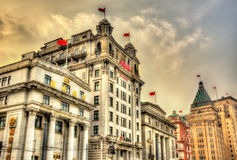 North China Daily News Building on the Bund, Shanghai Royalty Free Stock Photos