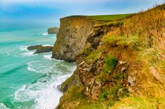 North Cliffs in the south east of England. Cliffs of the south east of England. North Cliffs, Camborne, UK stock photography