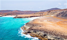 North coast from Aruba in the Caribbean Stock Photos