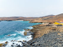 North coast from Aruba in the Caribbean Stock Photography
